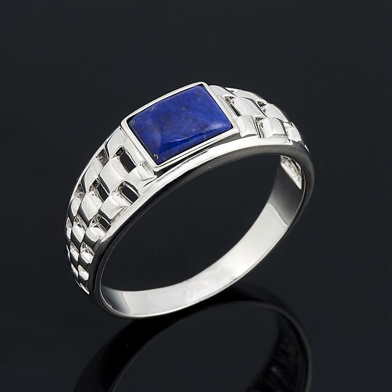 Кольцо лазурит (серебро 925 пр. родир. бел.) размер 19