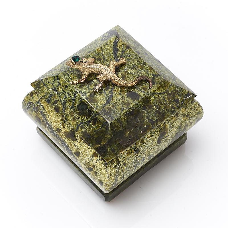 цена на Шкатулка змеевик 6х5,5х5,5 см
