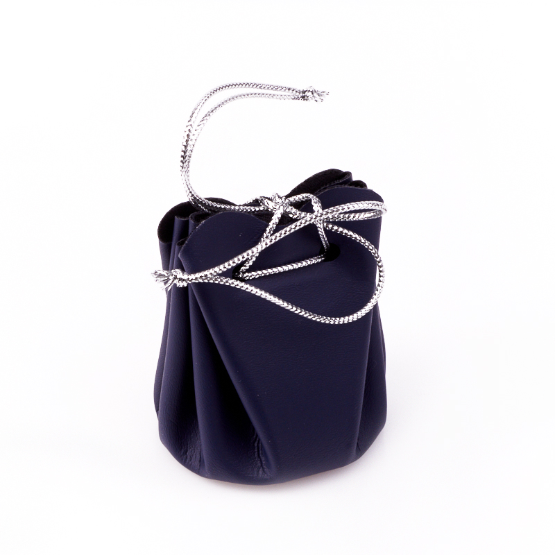 Подарочная упаковка универсальная (мешочек объемный синий) 40х40х60 мм