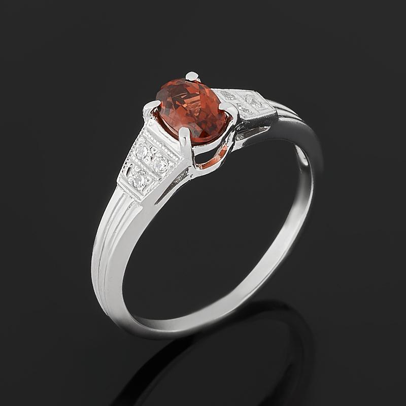 Кольцо гранат альмандин (серебро 925 пр. родир. бел.) огранка размер 16,5