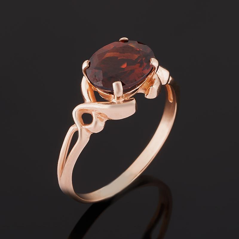 Кольцо гранат альмандин (серебро 925 пр. позолота) огранка размер 17,5