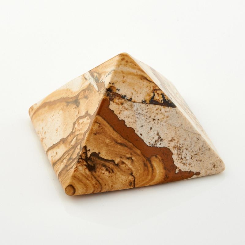Фото - Пирамида яшма рисунчатая (песочная) 4 см гармонизатор яшма рисунчатая песочная 4 5 см