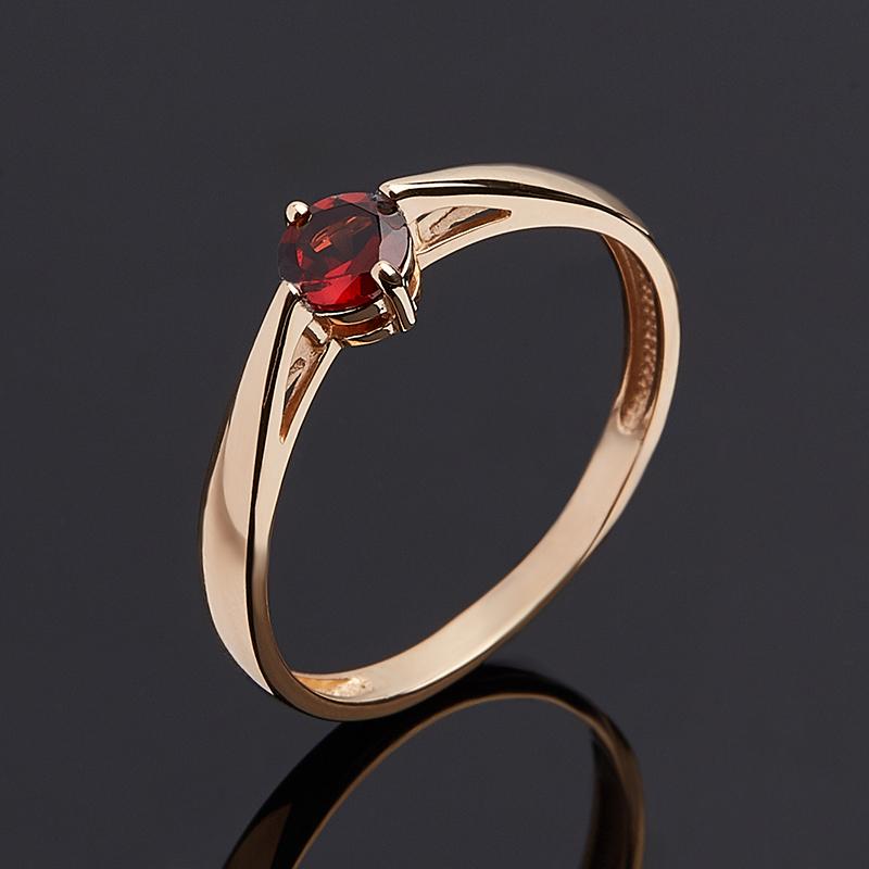 Кольцо гранат альмандин (золото 585 пр. родир. бел.) огранка размер 18