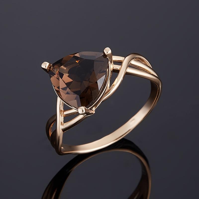 Кольцо раухтопаз (золото 585 пр.) огранка размер 18