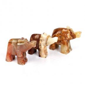 Слон оникс мраморный Пакистан 7 см
