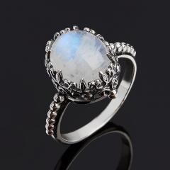 Кольцо лунный камень Индия (серебро 925 пр. оксидир.) размер 18,5