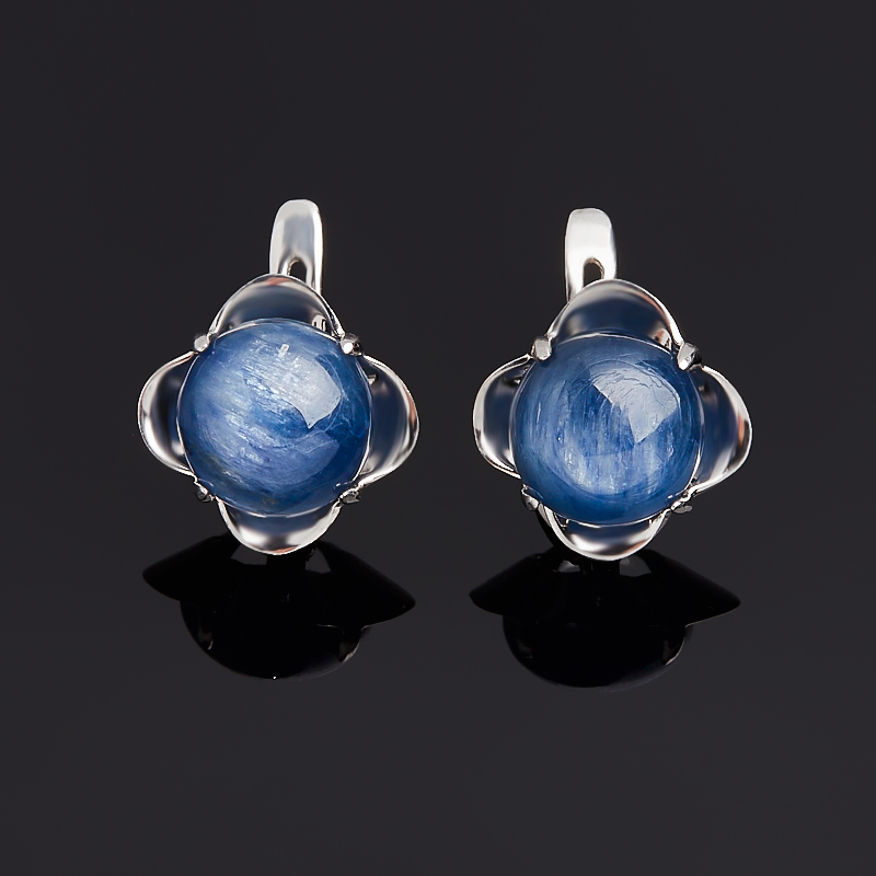 Серьги кианит синий (серебро 925 пр.)