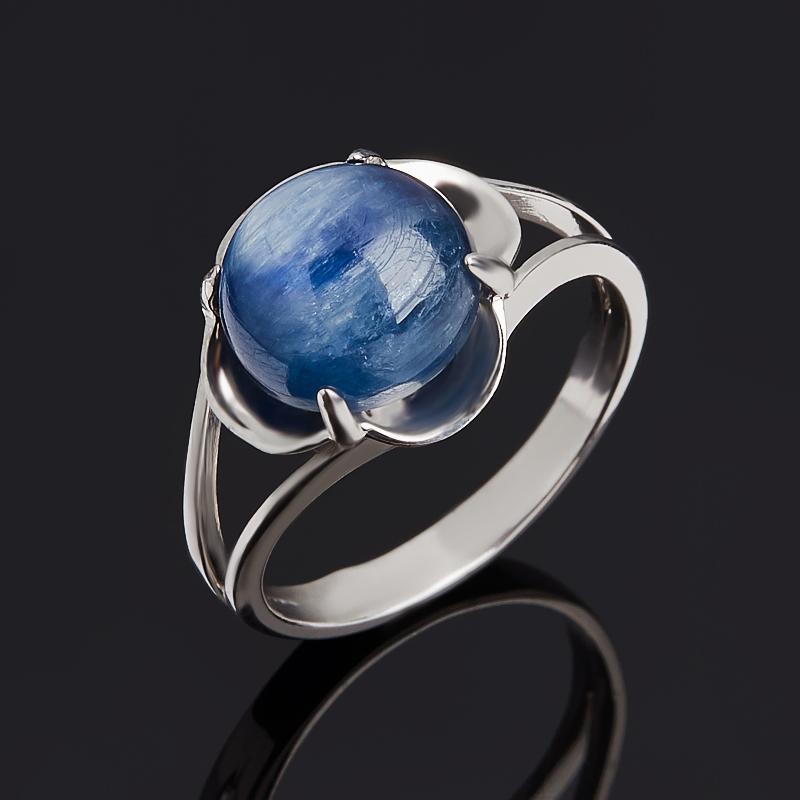 Кольцо кианит синий (серебро 925 пр. родир. бел.) размер 17,5
