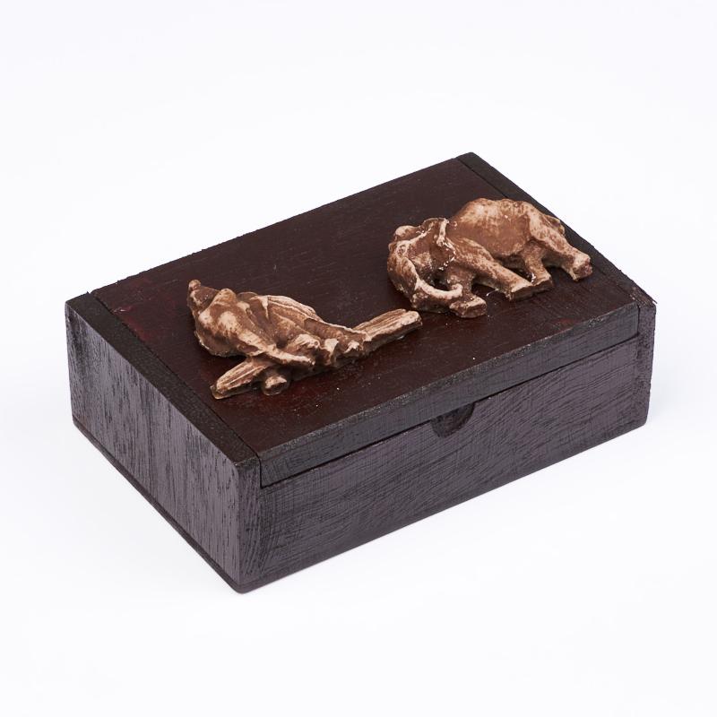 Шкатулка для хранения камней / украшений 10,5х7х3,5 см