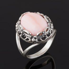 Кольцо опал розовый Перу (серебро 925 пр. оксидир.) размер 18,5