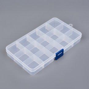 Коробка для коллекции камней пластик (15 ячеек)