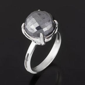 Кольцо гематит Бразилия (серебро 925 пр. родир. бел.) огранка размер 18