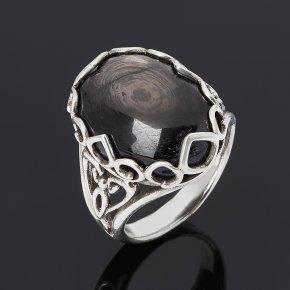 Кольцо гиперстен Канада (серебро 925 пр. оксидир.) размер 18,5