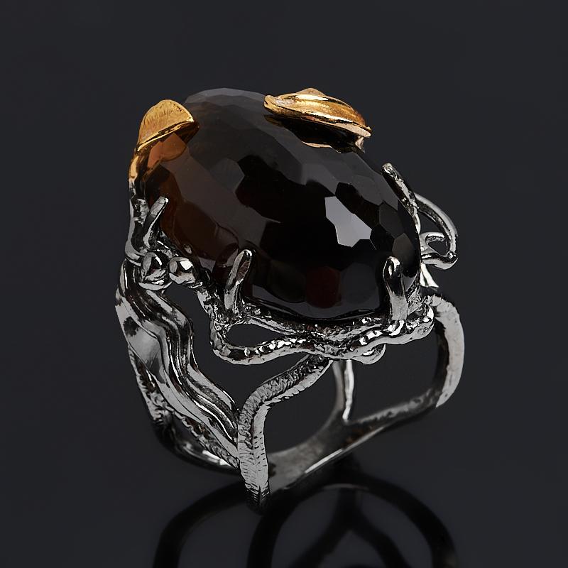 Кольцо раухтопаз (серебро 925 пр. позолота, родир. черн.) огранка размер 18,5 кольцо раухтопаз серебро 925 пр позолота огранка размер 17 5