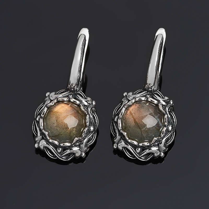 Серьги лабрадор (серебро 925 пр. оксидир.)