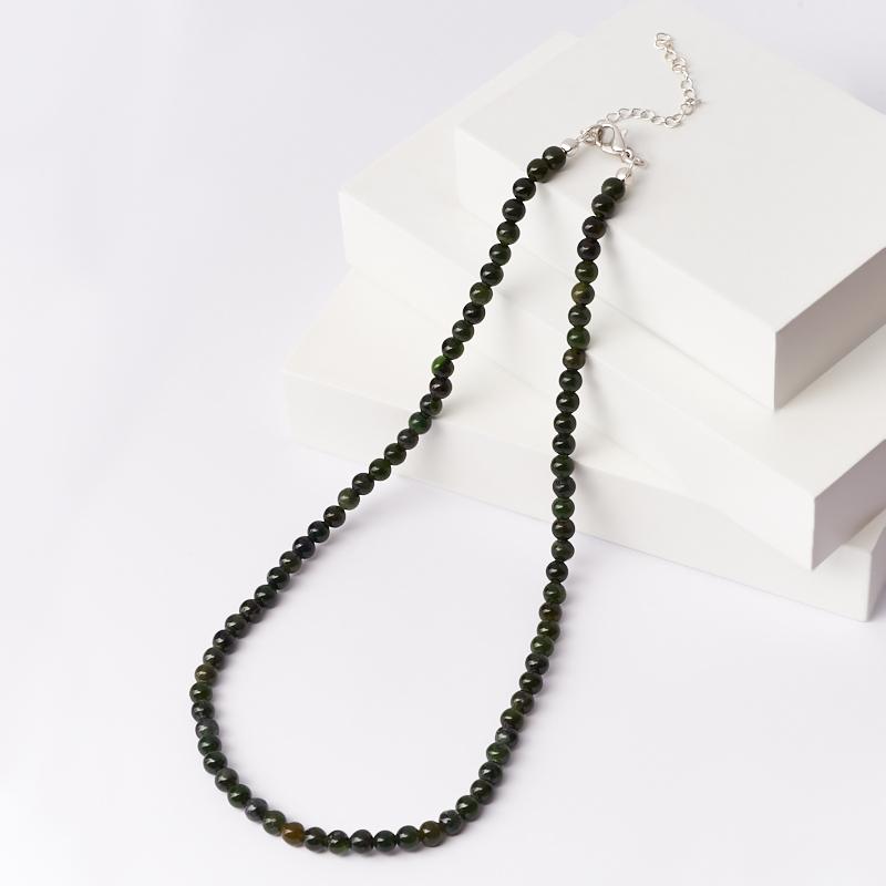 Бусы нефрит зеленый (биж. сплав) 5 мм 45 см (+7 см) приманка съедобная риппер allvega blade shad цвет зеленый желтый 7 5 см 2 5 г 7 шт