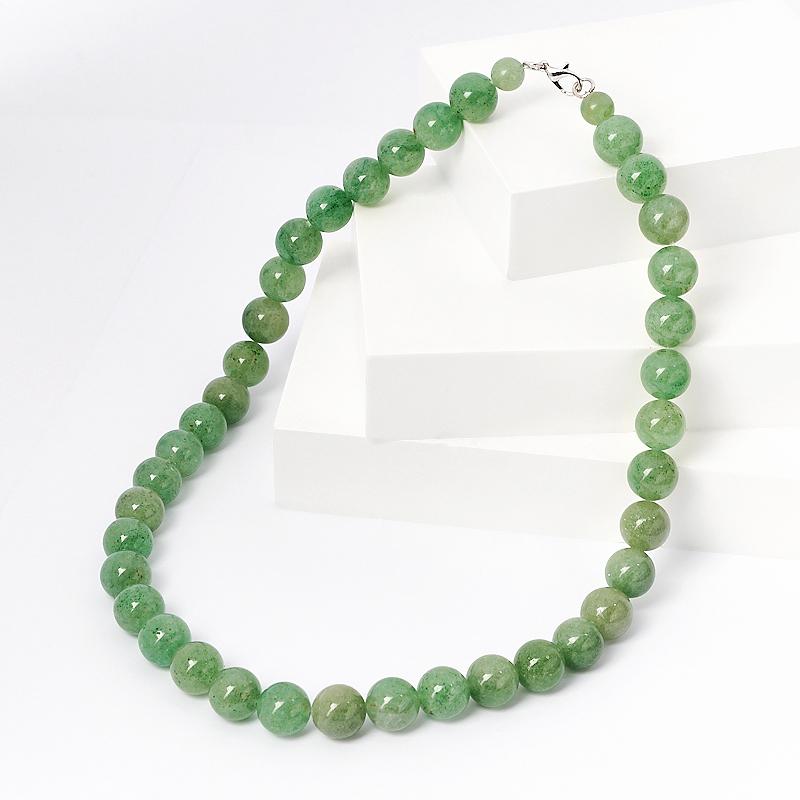 Бусы авантюрин зеленый (биж. сплав) 12 мм 49 см бусы migura цвет зеленый y8021