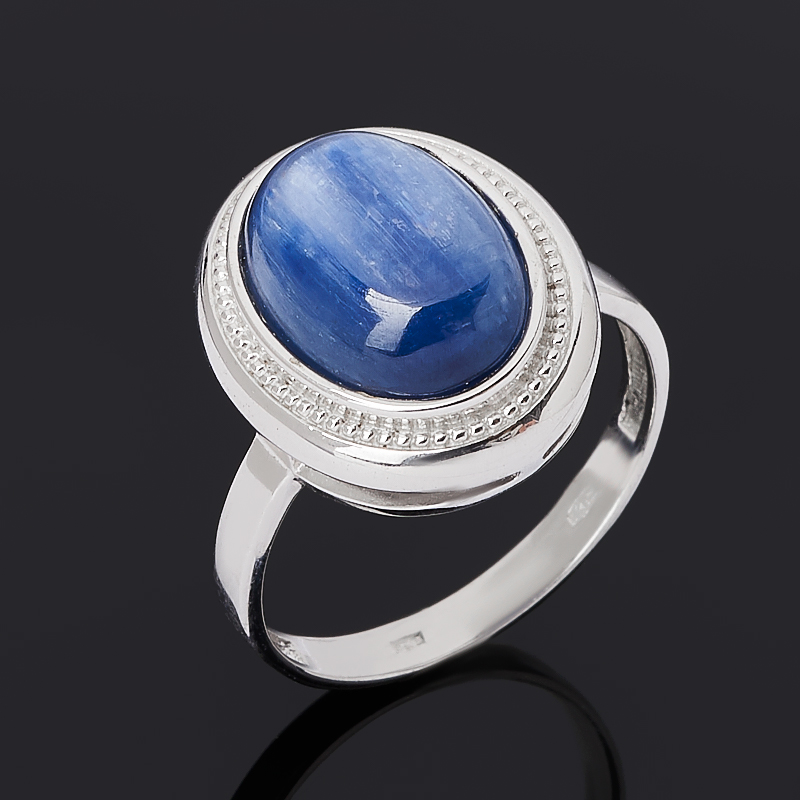 Кольцо кианит синий (серебро 925 пр. родир. бел.) размер 19
