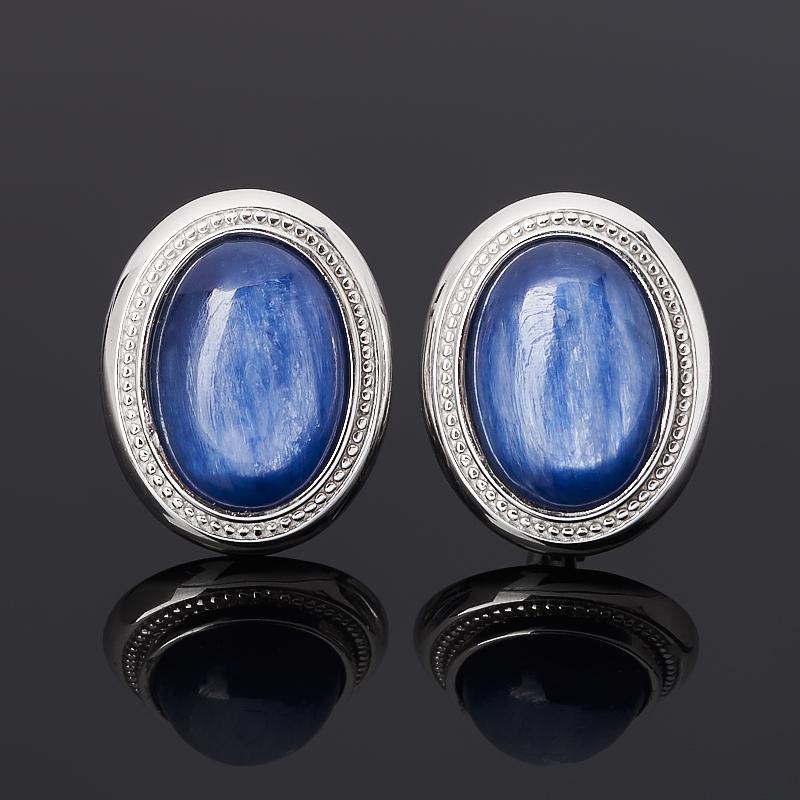 Серьги кианит синий (серебро 925 пр. родир. бел.)