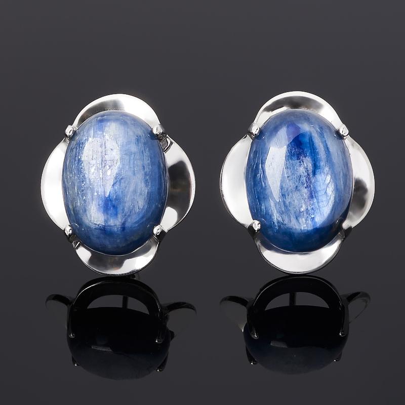 Серьги кианит синий (серебро 925 пр. родир. бел.) фото