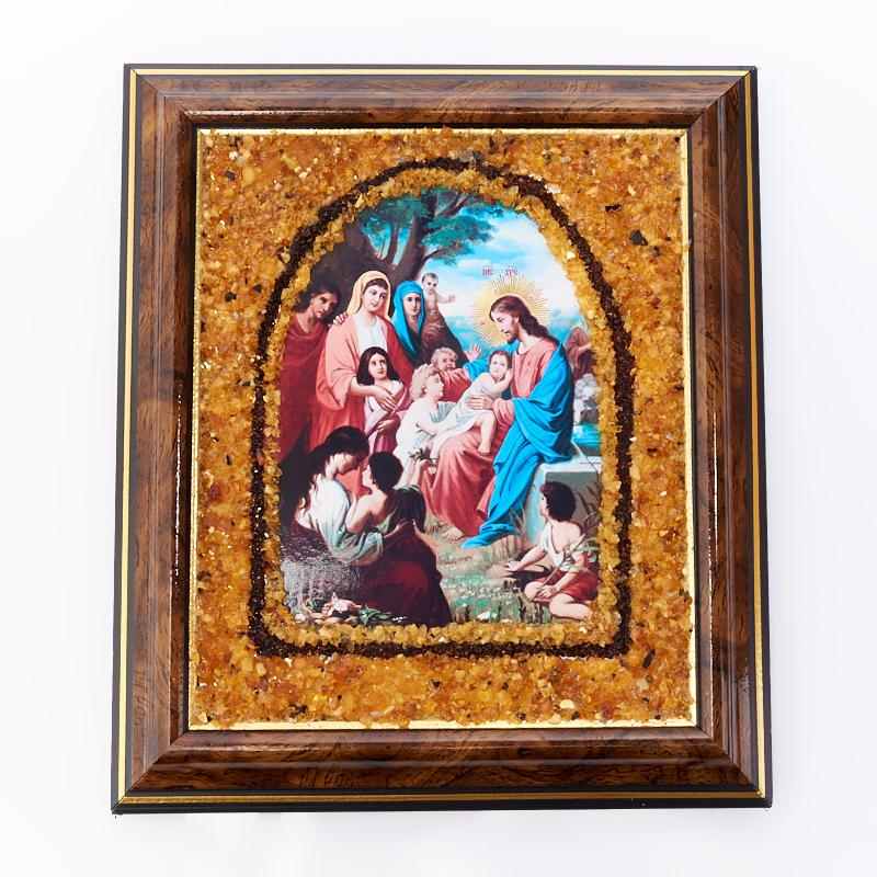 Изображение Благословление детей янтарь 14х17 см
