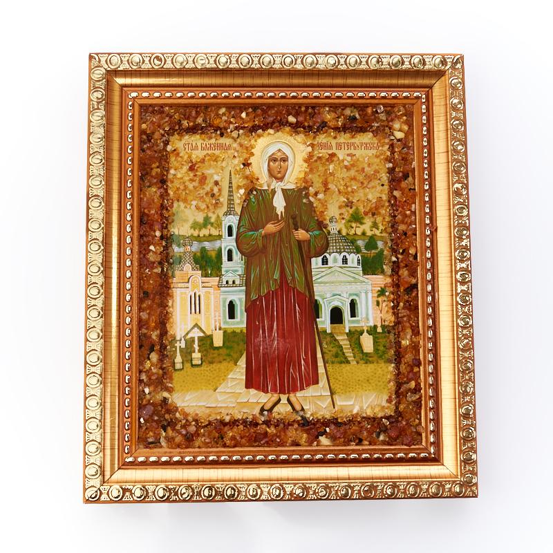 Изображение Святая Ксения янтарь 14х17 см