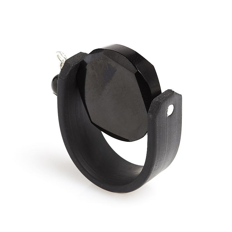 Кольцо гагат Грузия (биж. сплав) размер 17