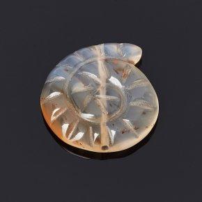 Пуговица агат белый Индия 2-2,5 см
