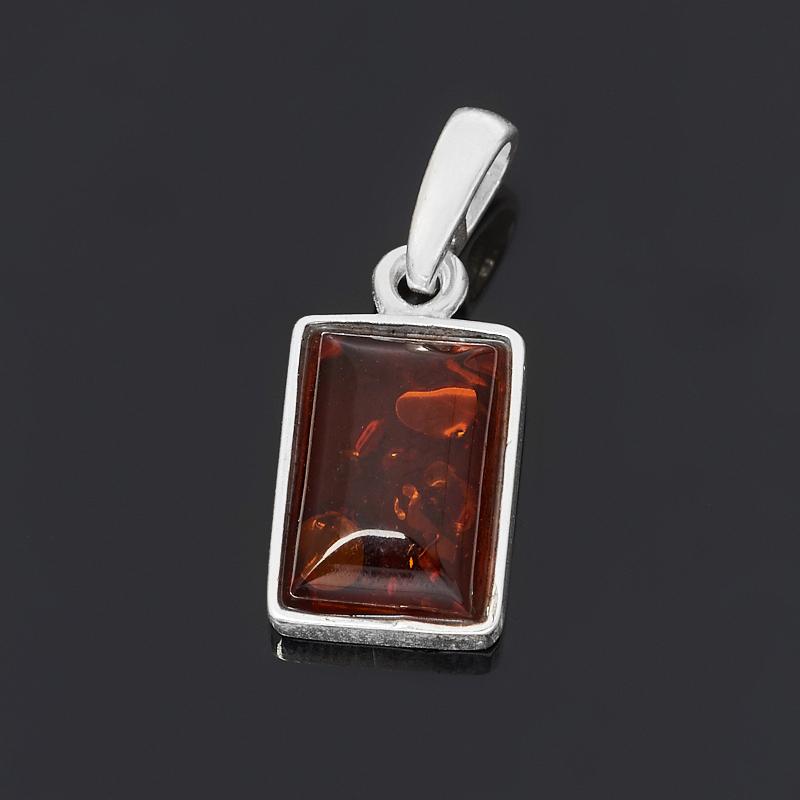 Кулон янтарь прямоугольник (латунь посеребр.) 2 см кулон янтарь латунь посеребр 3 см