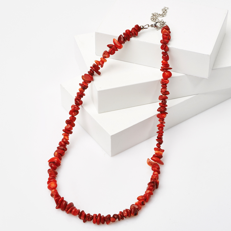 Бусы коралл красный (биж. сплав) 43-50 см цены онлайн