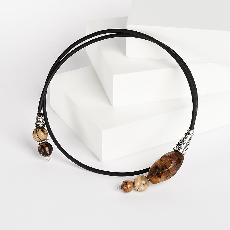 Бусы кварц, яшма (биж. сплав) (колье) 48 см цена и фото