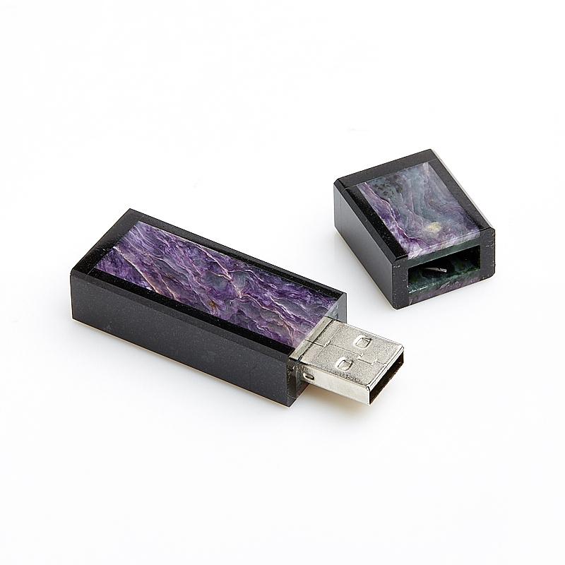 USB-флеш-накопитель долерит, чароит 16 Гб