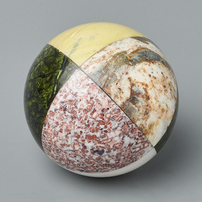 Шар змеевик, мрамор, офиокальцит 7,5 см шар офиокальцит на подставке 8 см
