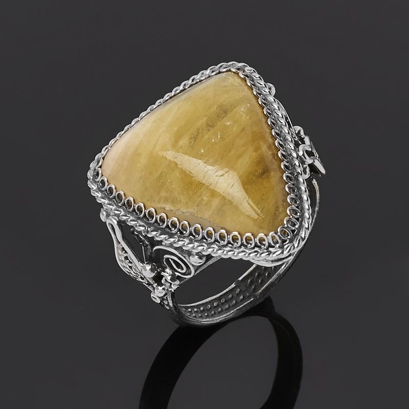 цена Кольцо турмалин желтый (дравит) (нейзильбер) размер 18,5 онлайн в 2017 году