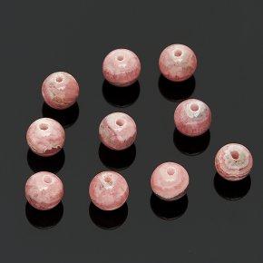 Бусина родохрозит Аргентина шарик 6-6,5 мм (1 шт)