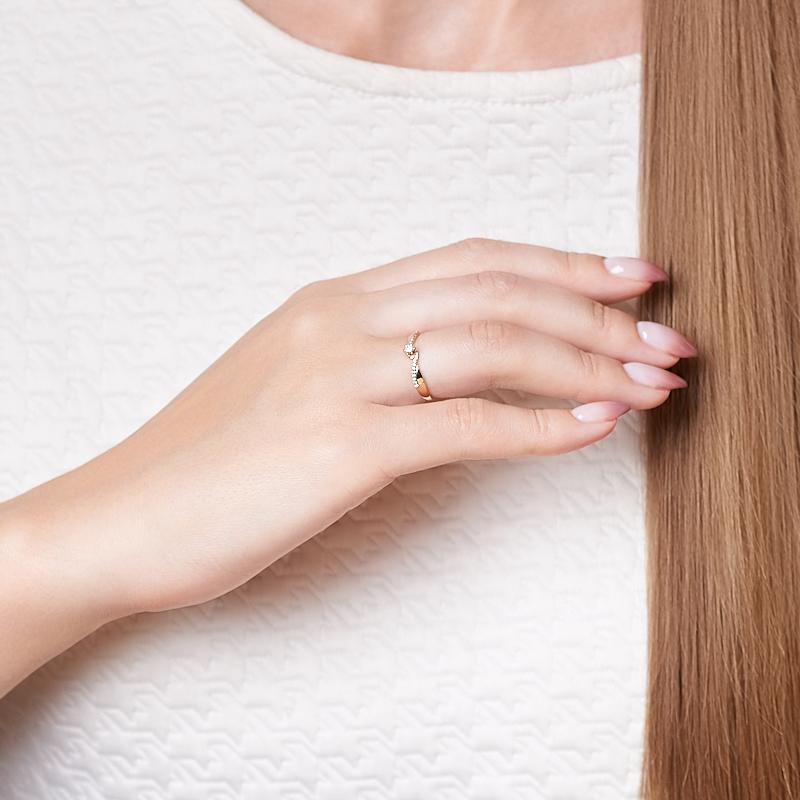 Кольцо бриллиант Индия (золото 585 пр. родир. бел.) огранка размер 20,5
