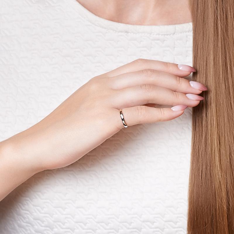 Кольцо бриллиант Индия (золото 585 пр. родир. бел.) огранка (обручальное) размер 16,5