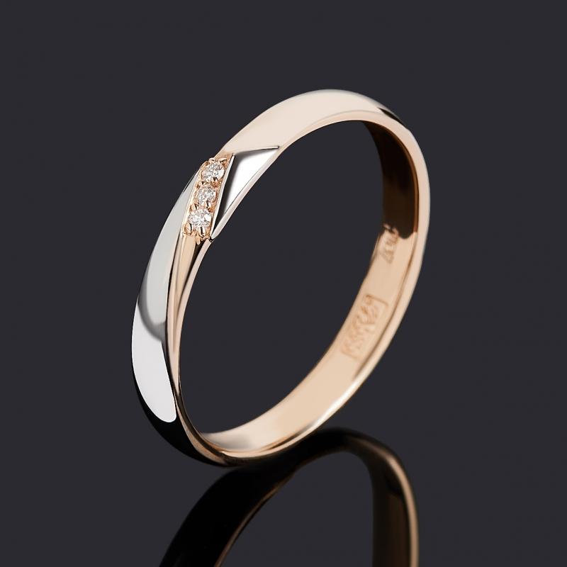 Кольцо бриллиант Индия (золото 585 пр. родир. бел.) огранка (обручальное) размер 17