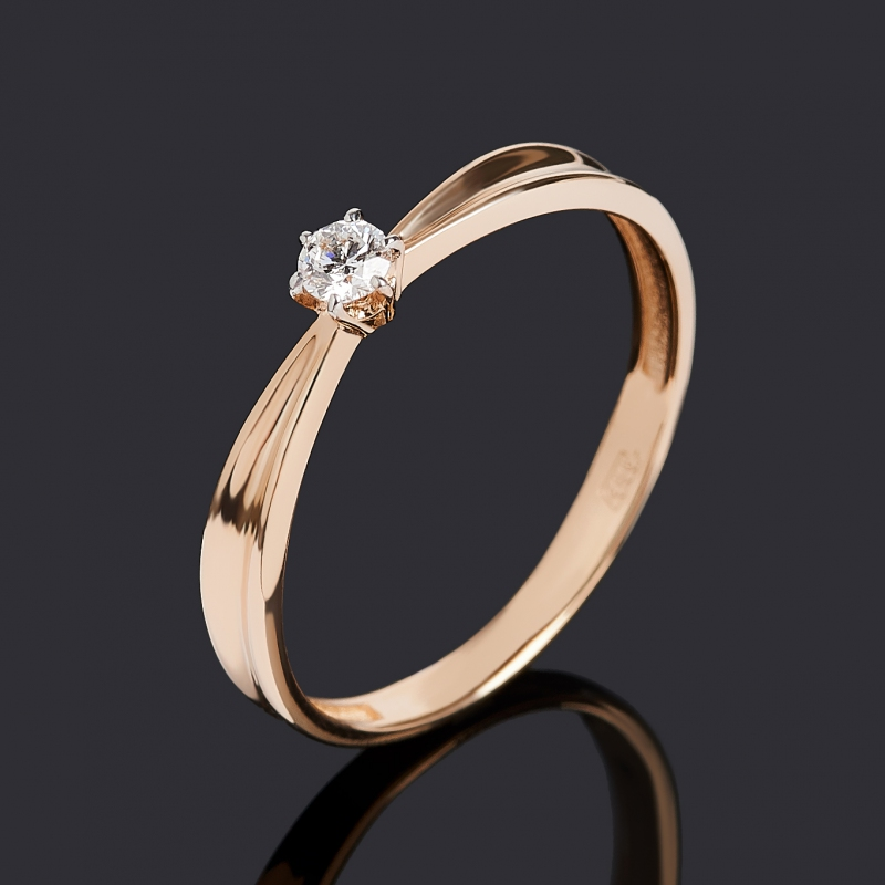 Кольцо бриллиант Индия (золото 585 пр.) огранка размер 20