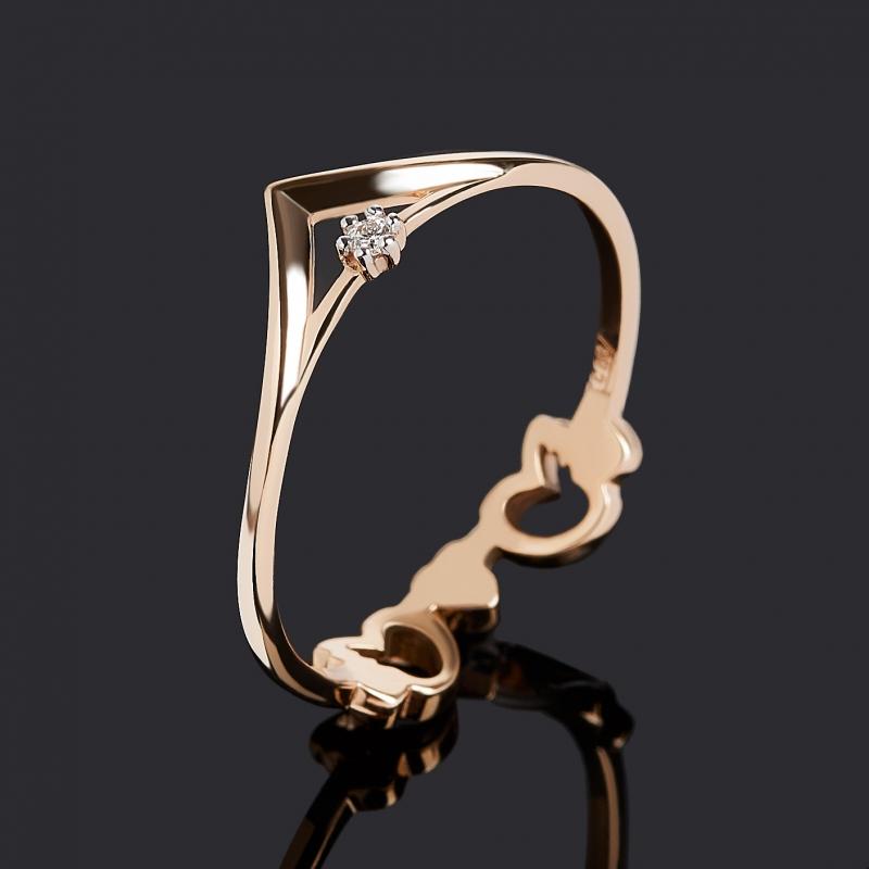 Кольцо бриллиант Индия (золото 585 пр.) огранка размер 19