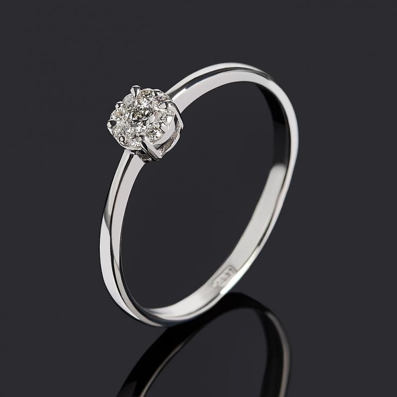 Кольцо бриллиант Индия (золото 585 пр. родир. бел.) огранка размер 17