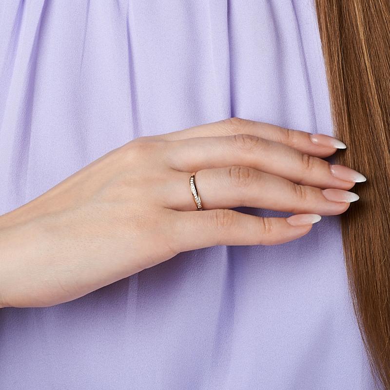 [del] Кольцо бриллиант Индия (золото 585 пр. родир. бел.) огранка размер 16