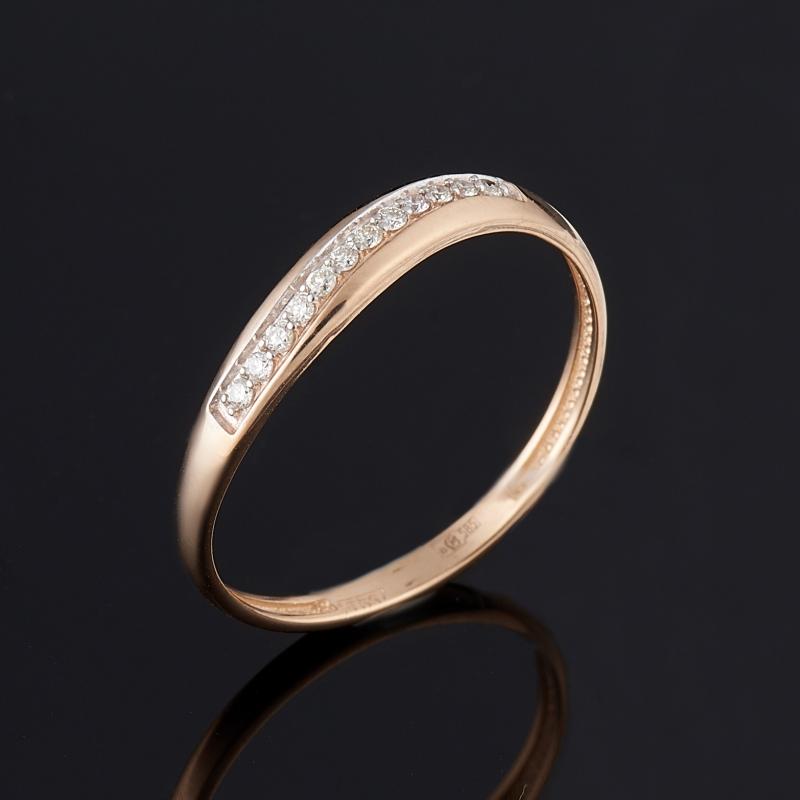 [del] Кольцо бриллиант Индия (золото 585 пр. родир. бел.) огранка размер 17