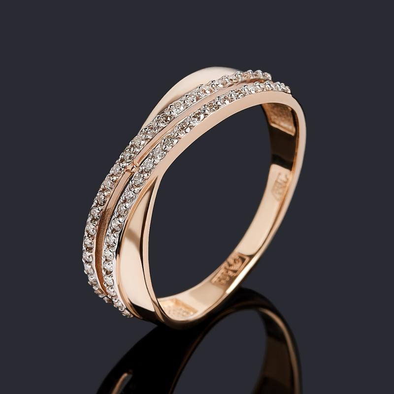 Кольцо бриллиант Индия (золото 585 пр.) огранка размер 19,5