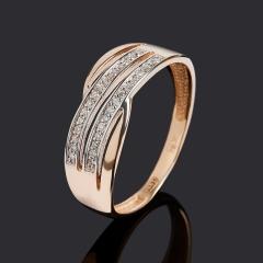 Кольцо бриллиант Индия (золото 585 пр.) огранка размер 18