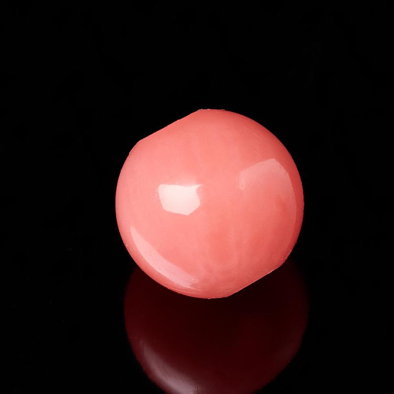 Бусина коралл розовый Индонезия шарик 4 мм (1 шт)