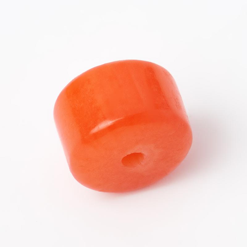 Бусина коралл оранжевый Индонезия шайба 3*5 мм (1 шт)