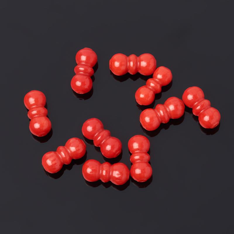 Бусина коралл красный 10*5 мм (1 шт) onika коралл 30 10