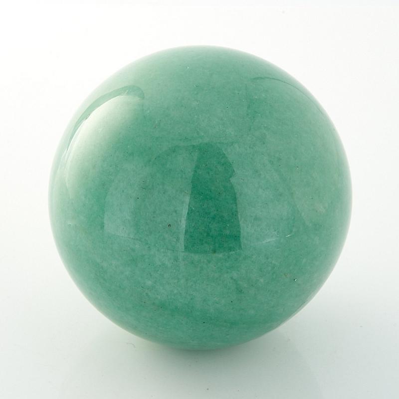 Шар авантюрин зеленый  6 см бусы авантюрин зеленый 45 см