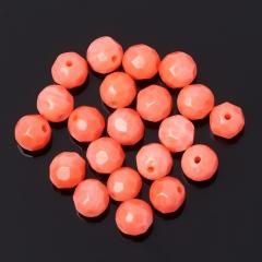 Бусина коралл розовый Индонезия шарик 4 мм огранка (1 шт)